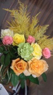 バラとニンジン葉